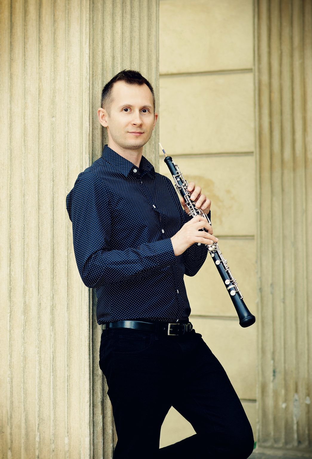 Portrait of oboist Michal Rogalski